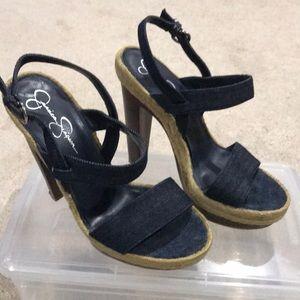 Jessica Simpson blue Jean sandal